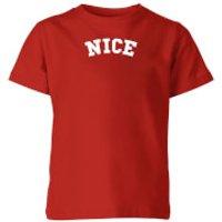 Nice Kids' Christmas T-Shirt - Red - 7-8 Years - Red