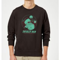 Totally Rad Christmas Sweatshirt - Black - S - Black