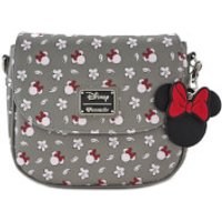 Loungefly Disney Mickey Mouse Minnie Aop Cross Body Bag - Grey - Bag Gifts