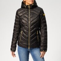 Barbour International Womens Durant Quilt Jacket - Black - UK 12 - Black