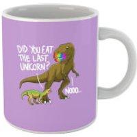Did You Eat The Last Unicorn? Purple Mug - Dinosaur Gifts