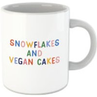 Snowflakes and Vegan Cakes Mug - Cakes Gifts