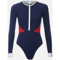 The Upside Women's Colour Block Paddle Suit - Navy/Red - M - Blue