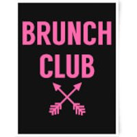 Brunch Club Art Print - A3 - Wood Frame