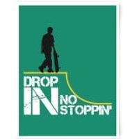 Drop In No Stoppin Art Print - A3 - Black Frame