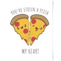 A Pizza My Heart Art Print - A2 - No Hanger