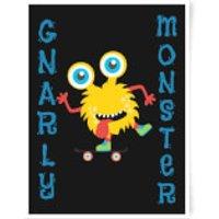 Gnarly Monster Art Print - A2 - No Hanger