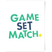 Game Set Match Art Print - A3 - Wood Frame - Game Gifts