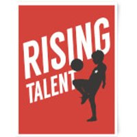 Rising Talent Art Print - A3 - White Frame