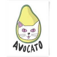 Avocato Art Print - A2 - Black Frame