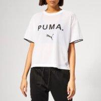 Puma Women's Chase Mesh Short Sleeve T-Shirt - Puma White - S - White