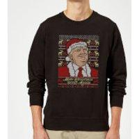 Make Christmas Great Again Christmas Sweatshirt - Black - XXL - Black