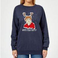 Who's Your Mutti? Women's Christmas Sweatshirt - Navy - XXL - Navy