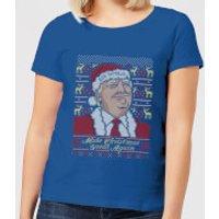 Make Christmas Great Again Women's Christmas T-Shirt - Royal Blue - XXL - Royal Blue