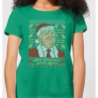 Make Christmas Great Again Women's Christmas T-Shirt - Kelly Green - L - Kelly Green