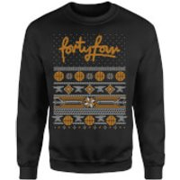 How Ridiculous Forty Four Knit Christmas Sweatshirt - Black - L - Black