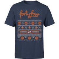 How Ridiculous Forty Four Knit Men's Christmas T-Shirt - Navy - XL - Navy