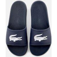 Lacoste Lacoste Men's Croco Slide 119 1 Sandals - Navy/White - UK 8 - Navy/White