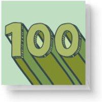 100 Square Greetings Card (14.8cm x 14.8cm)
