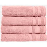 in homeware Supersoft 100% Cotton 4 Piece Towel Bale - Blush