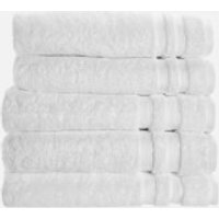 in homeware 100% Egyptian Cotton Pile 5 Piece Towel Bale - White