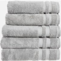 in homeware 100% Egyptian Cotton Pile 5 Piece Towel Bale - Silver