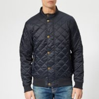 Barbour Mens Moss Quilted Jacket - Navy - M - Blue