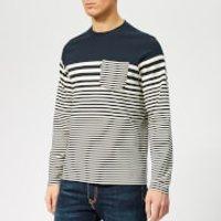 Barbour Men's Triton Stripe Long Sleeve Top - Navy - M - Blue