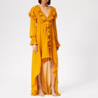 Philosophy di Lorenzo Serafini Women's Ruffle Detail Midi Dress - Yellow - IT 42/UK 10 - Yellow
