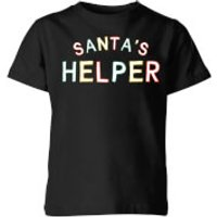 Santa's Helper Kids' T-Shirt - Black - 5-6 Years - Black