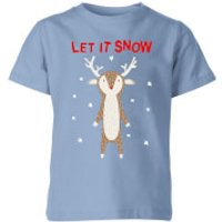 Let It Snow Kids' T-Shirt - Sky Blue - 11-12 Years - Sky blue - Snow Gifts