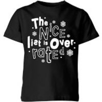 The Nice List Is Overrated Kids' T-Shirt - Black - 7-8 Years - Black