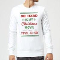 Die Hard Is My Christmas Movie Christmas Sweatshirt - White - S - White
