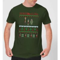Home Alone Men's Christmas T-Shirt - Forest Green - L - Forest Green