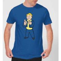 Fallout Vault Boy Mens T-Shirt - Royal Blue - XL - Royal Blue