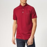 Armani Exchange Men's Small Logo Polo Shirt - Biking Red - S - Red