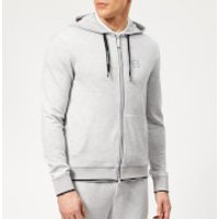 Armani Exchange Men's Small Logo Zip Hoody - Heather Grey - XL - Grey