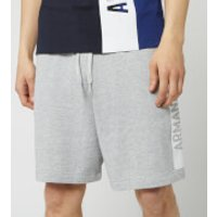 Armani Exchange Mens Sweat Shorts - Soft Grey - M - Grey