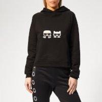 karl-lagerfeld-womens-ikonik-karl-and-choupette-hoodie-black-s-black