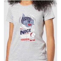 Looney Tunes Tweety Pie Pussy Cat Women's Christmas T-Shirt - Grey - XXL - Grey - Cat Gifts
