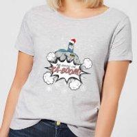 DC Batman Be Good Women's Christmas T-Shirt - Grey - M - Grey