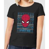 Marvel Spider-Man Women's Christmas T-Shirt - Black - XS - Black