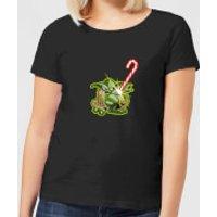 Star Wars Candy Cane Yoda Women's Christmas T-Shirt - Black - XS - Negro