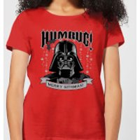 Star Wars Darth Vader Humbug Women's Christmas T-Shirt - Red - XS - Rojo