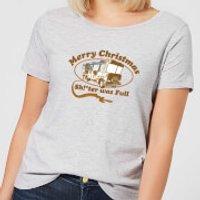 National Lampoon R.V. Women's Christmas T-Shirt - Grey - M - Grey