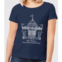 Mary Poppins Carousel Sketch Women's Christmas T-Shirt - Navy - XS - Navy