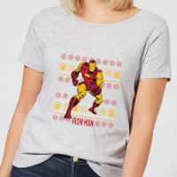 Marvel Iron Man Women's Christmas T-Shirt - Grey - L - Grey