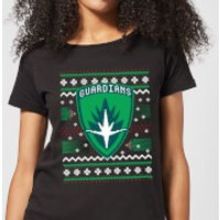 Guardians Of The Galaxy Badge Pattern Christmas Women's Christmas T-Shirt - Black - XS - Black