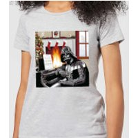 Star Wars Darth Vader Piano Player Women's Christmas T-Shirt - Grey - M - Grey