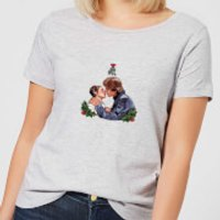 Star Wars Mistletoe Kiss Women's Christmas T-Shirt - Grey - XS - Grey